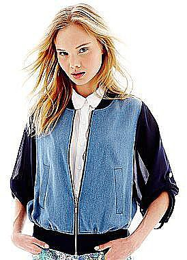 Update your denim wardrobe with this L'Amour Nanette Lepore chambray bo