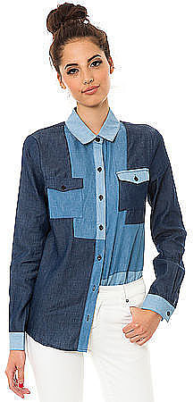 This MKL Collective patchwork denim button-down ($40) will make your denim-o