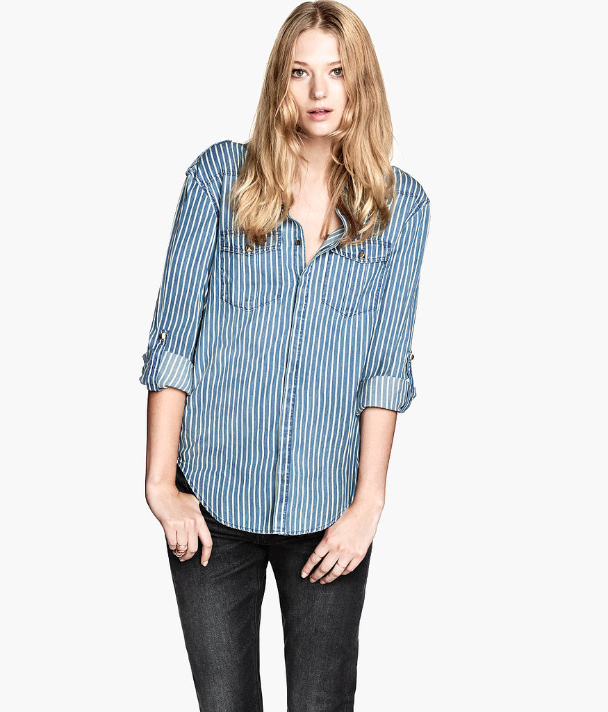 The studs and stripes make this H&M shirt ($30) worth adding to