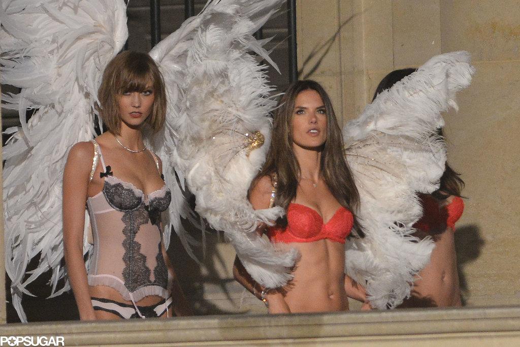 Karlie Kloss joined her fellow models for the shoot.
