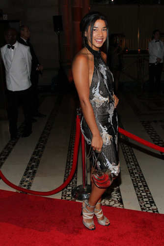 Hannah Bronfman selected a print and statement accessories for the New Yorkers for Children gala at Cipriani.