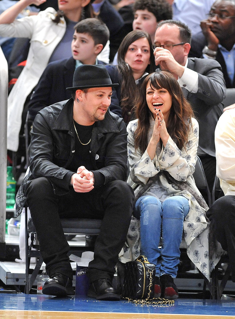Joel and Nicole had a sweet date night at a Knicks game in NYC back in February 2010.