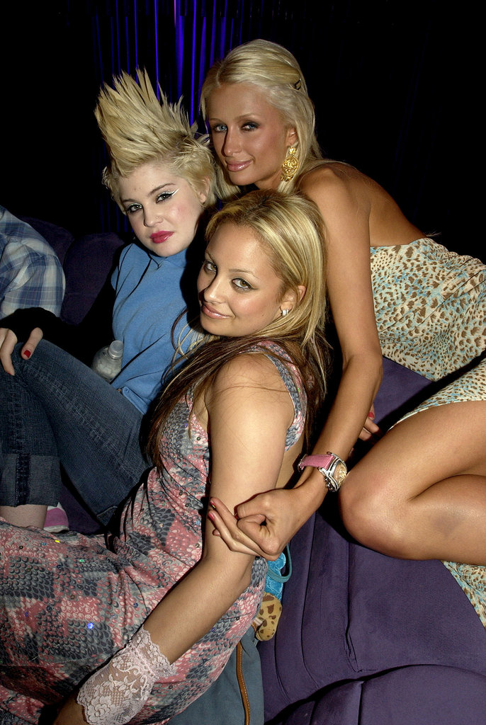 Before they headed to a rural farm town for the first season of The Simple Life, Fox threw Nicole and Paris a bon voyage bash that was attended by their celeb pals, including a mohawk-wearing Kelly Osbourne, in April 2003.