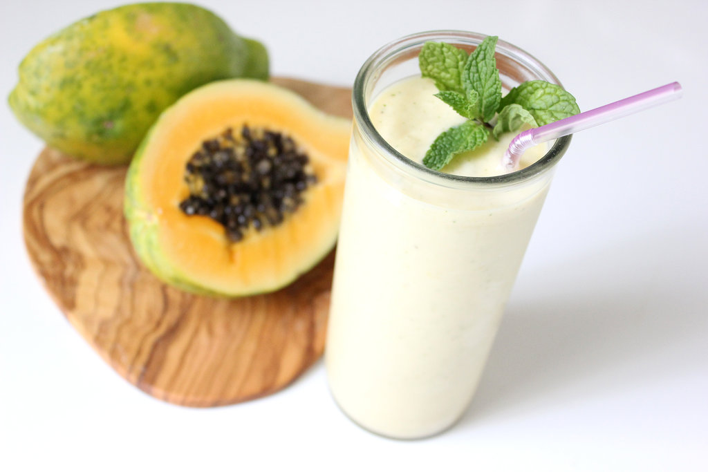 Papaya Ginger Mint Smoothie