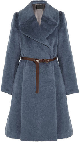Marc Jacobs Belted llama and wool-blend coat