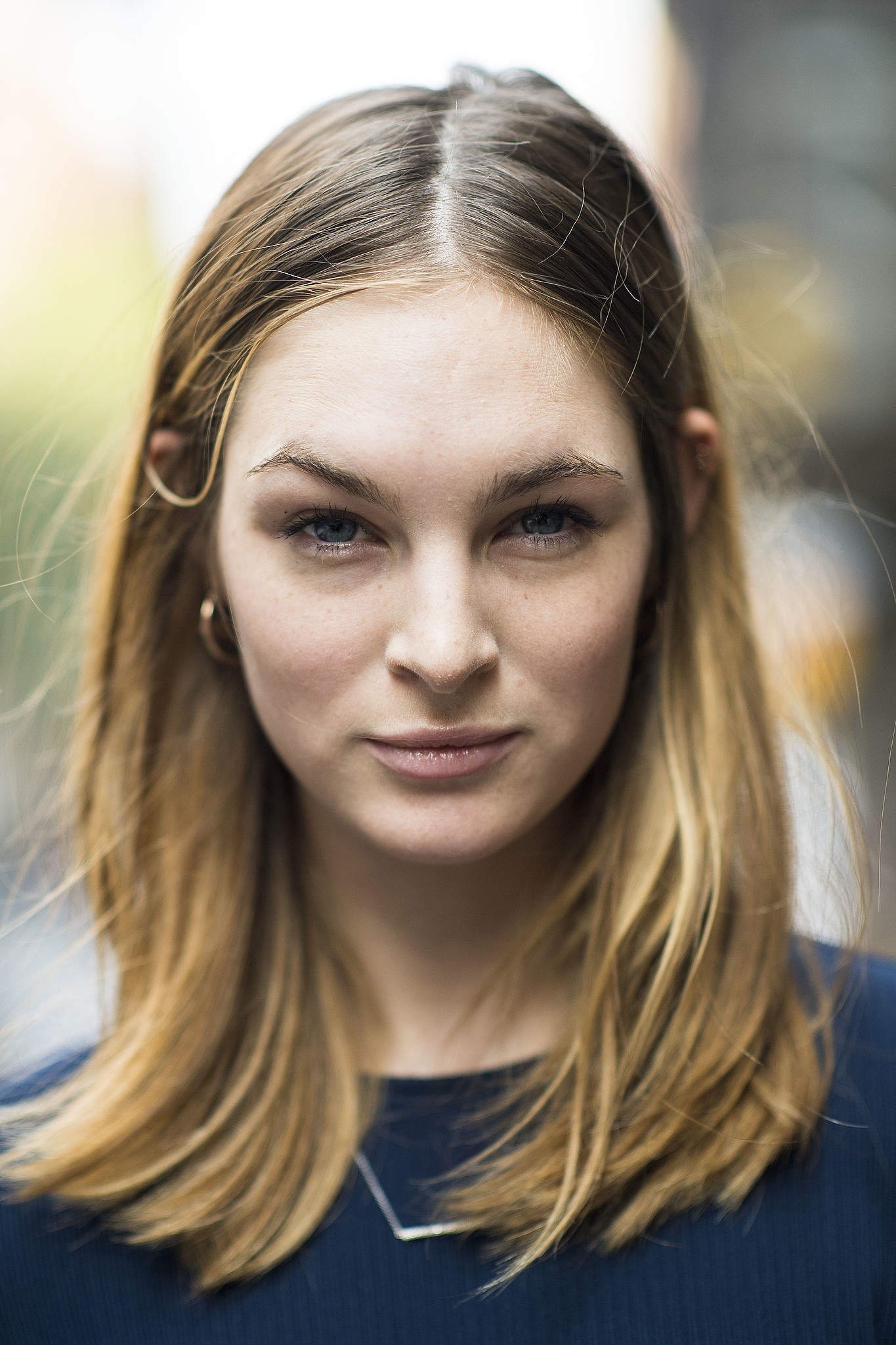 Model Laura Love showed off gorgeous blond locks and a neutral makeup look.  Source: Le 21ème | Adam Katz Sinding