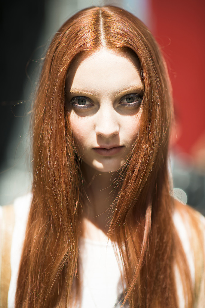 Let this gorgeous red hair be your color inspiration for Fall.  Source: Le 21ème | Adam Katz Sinding