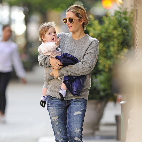 Drew Barrymore Carrying Daughter Olive Kopelman in NYC