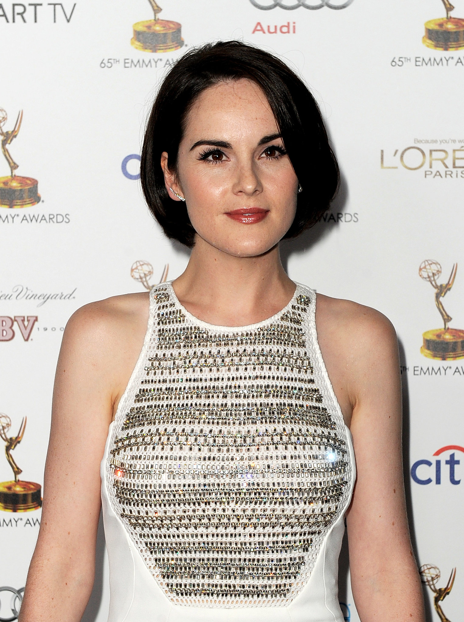 With flawless skin and a glamorous bob, Michelle Dockery wowed at the Academy of Television Arts & Sciences' Emmy Nominee Reception.