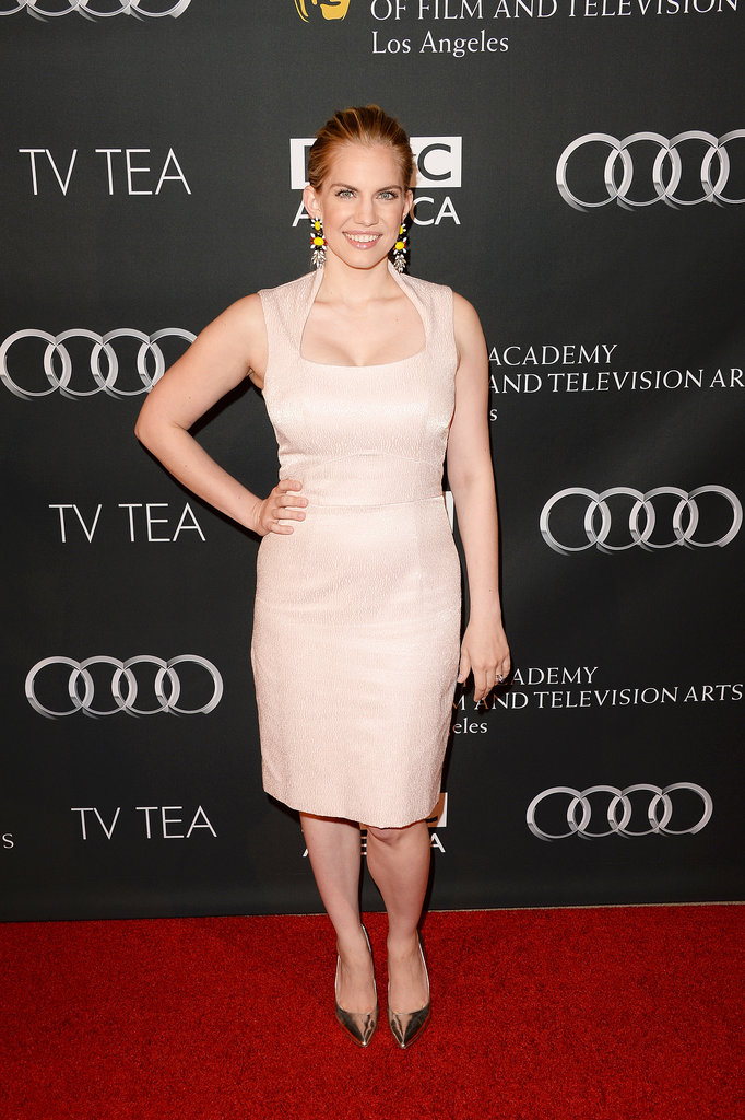 Veep star and Emmy nominee Anna Chlumsky wore a pale pink number.