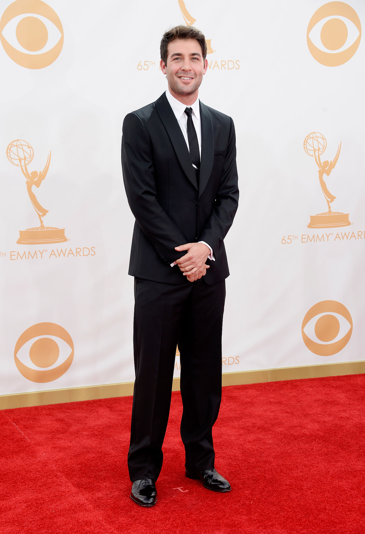 James Wolk hit the red carpet at the Emmys.