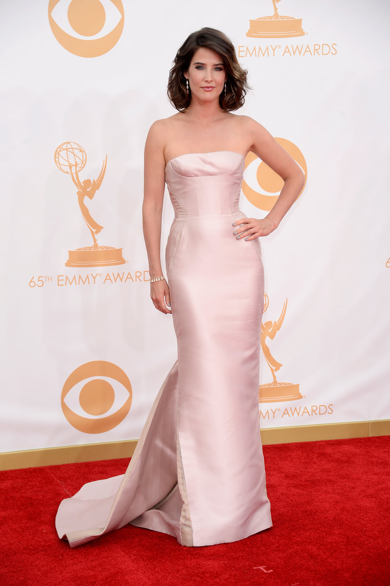 Cobie Smulders hit the red carpet at the 2013 Emmys.