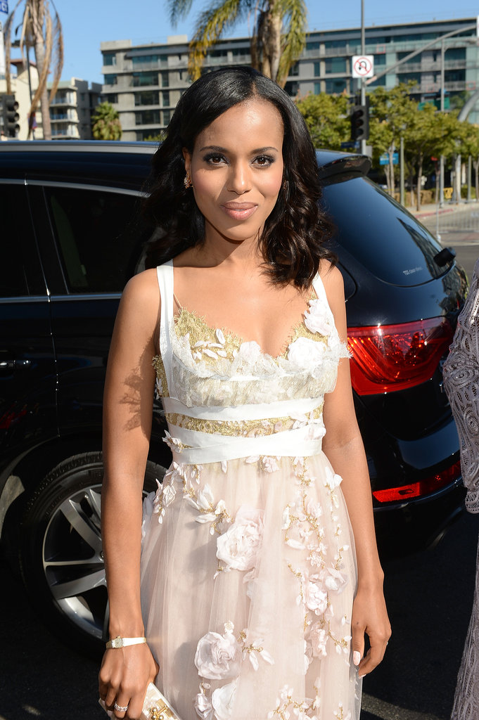 Kerry Washington arrived at the Emmy Awards.