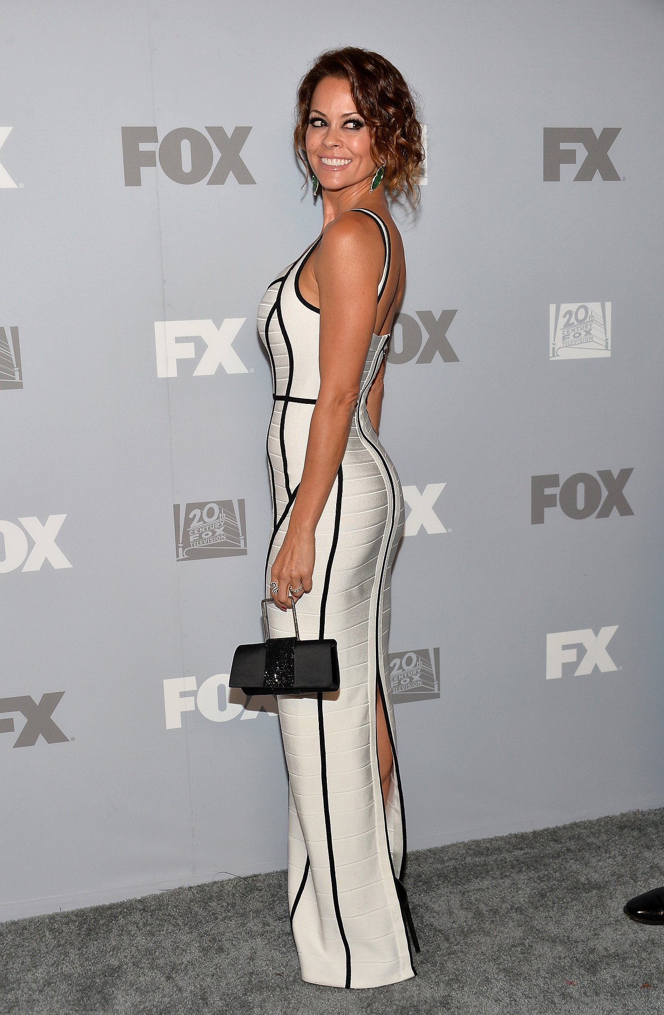 Brooke Burke-Charvet attended the Fox and FX afterparty in LA.