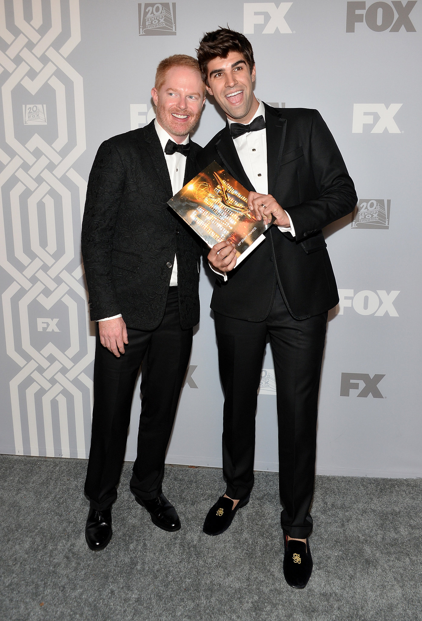 jesse tyler ferguson and his husband justin mikita posed for photos go inside the best. Black Bedroom Furniture Sets. Home Design Ideas