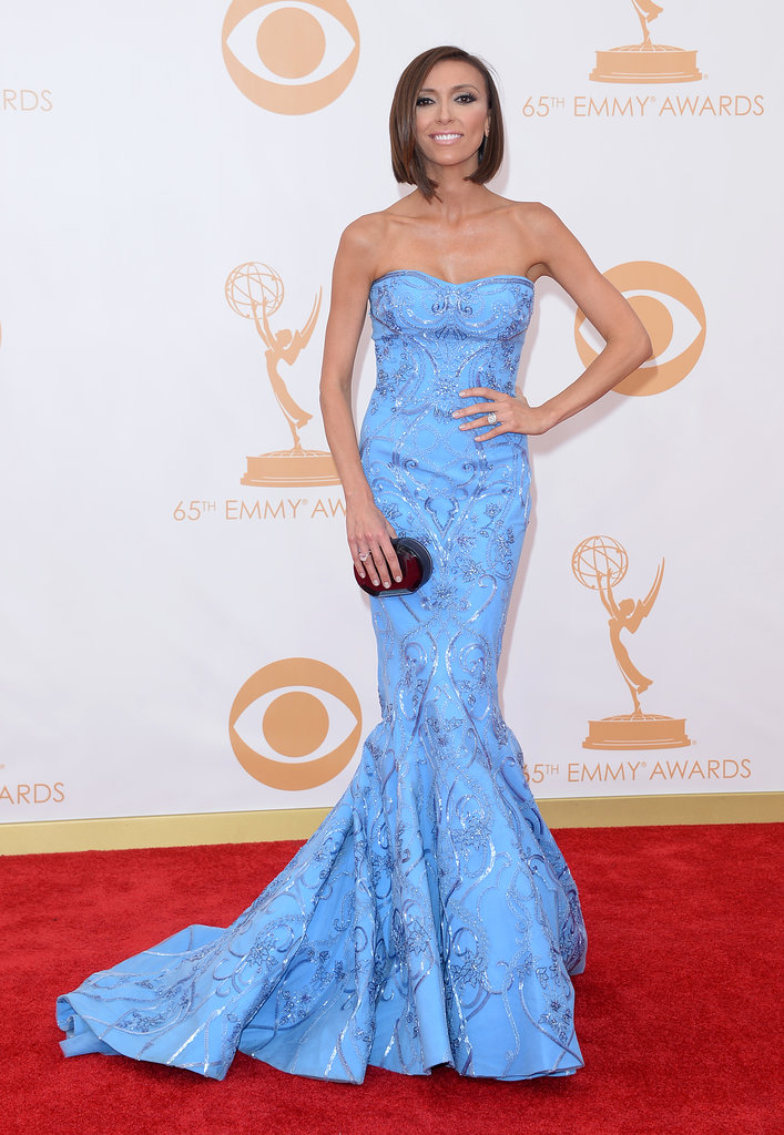 Giuliana Rancic went with a blue dress for the Emmys.