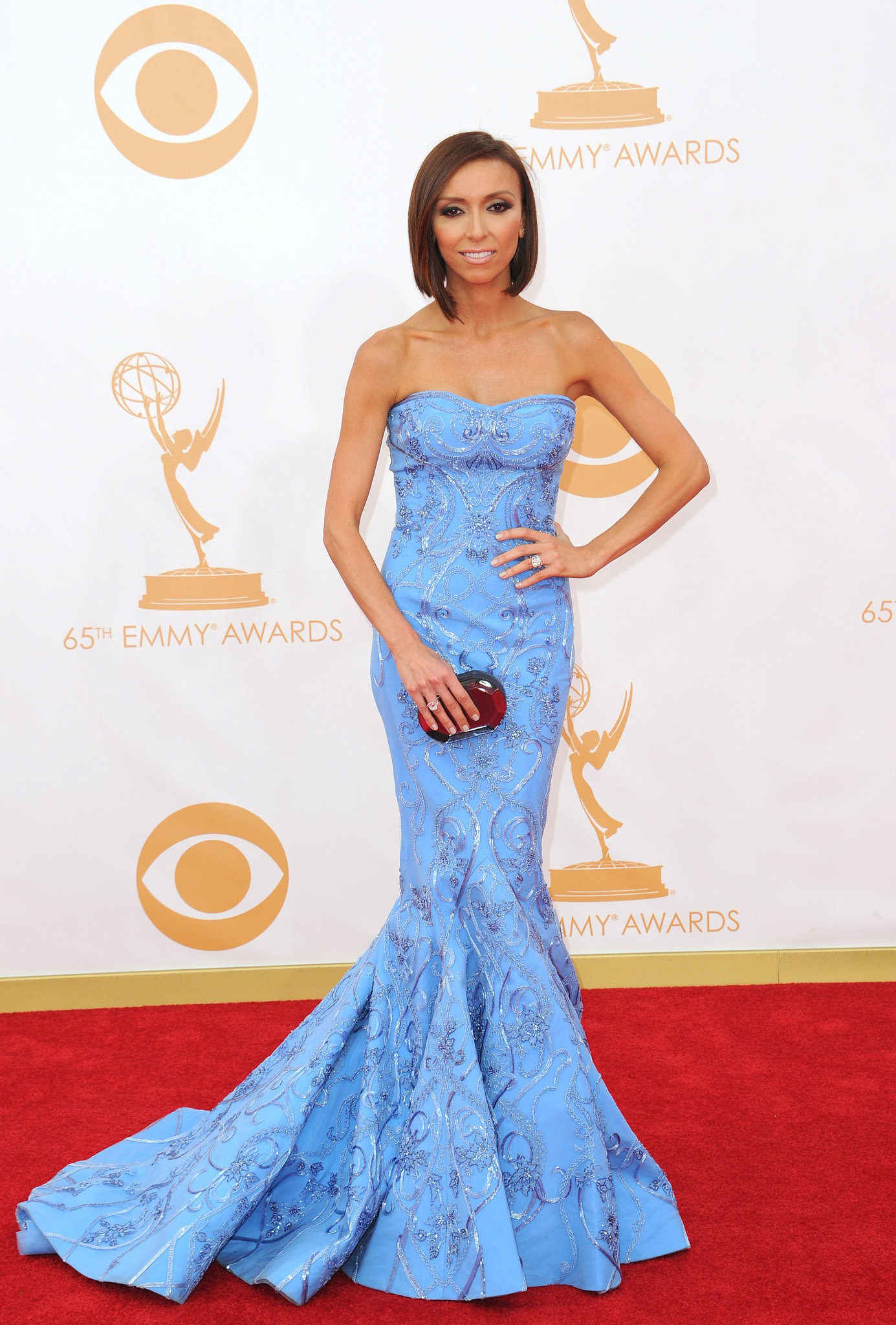 Cornflower blue was it for Giuliana Rancic, wh