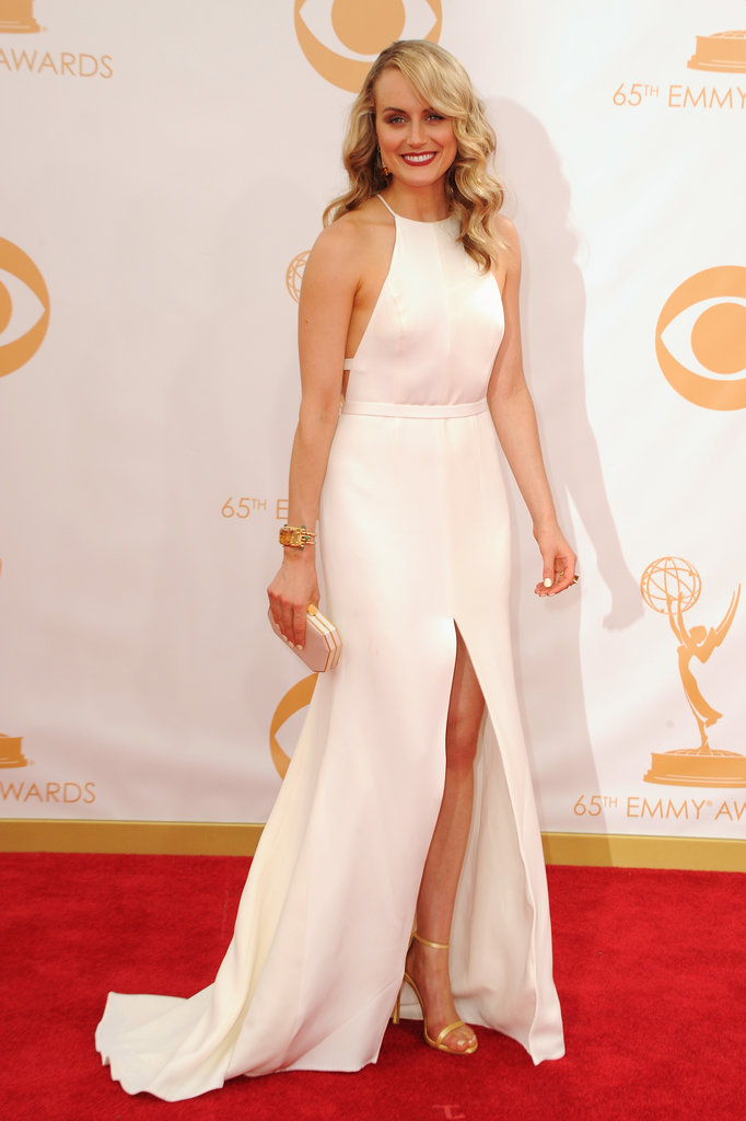 Taylor Schilling walked the Emmys red carpet.