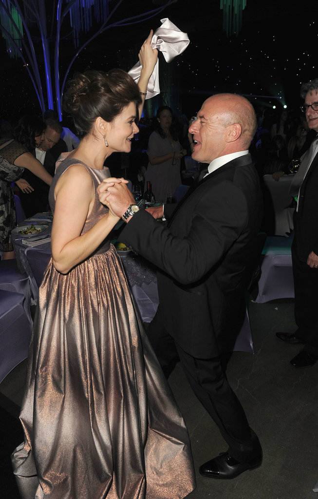 Dean Norris and Betsy Brandt danced at the 2013 Emmys Governors Ball.