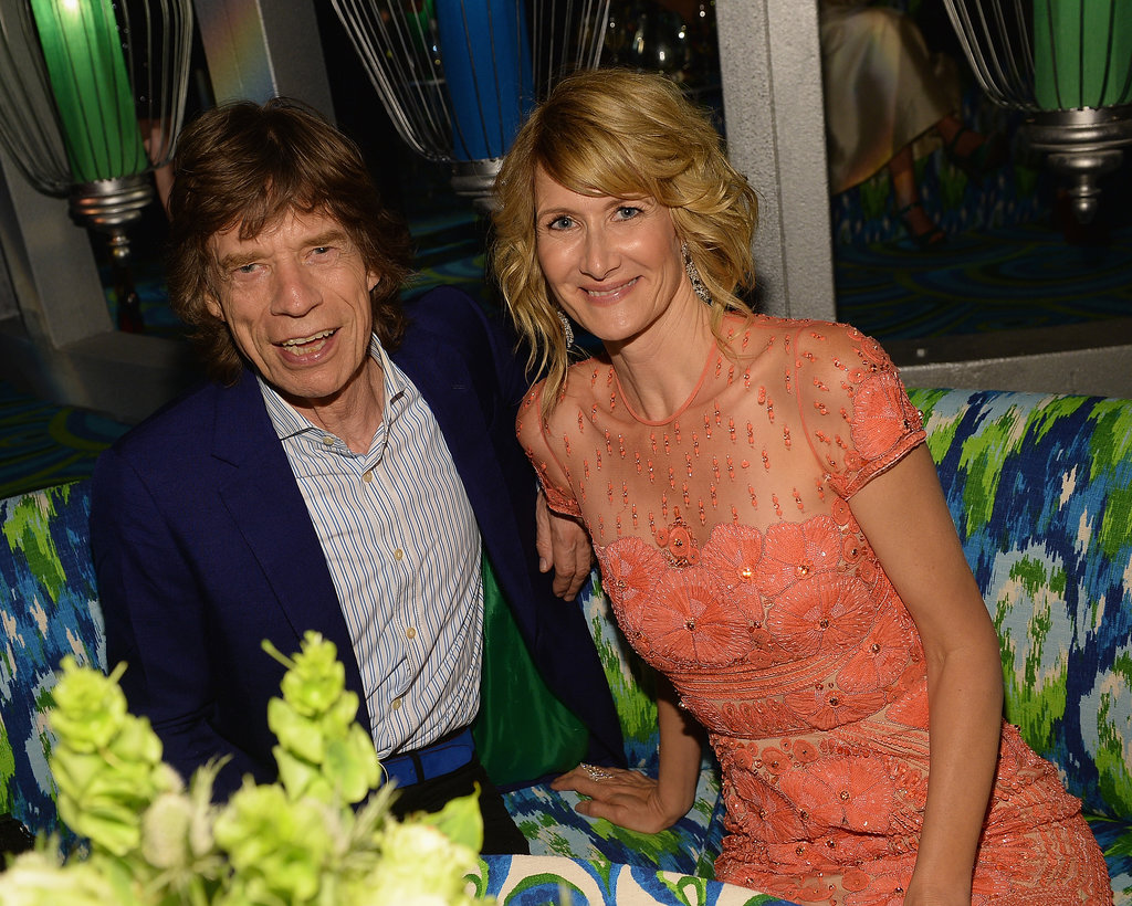 Laura Dern chatted with Mick Jagger at the HBO after party.