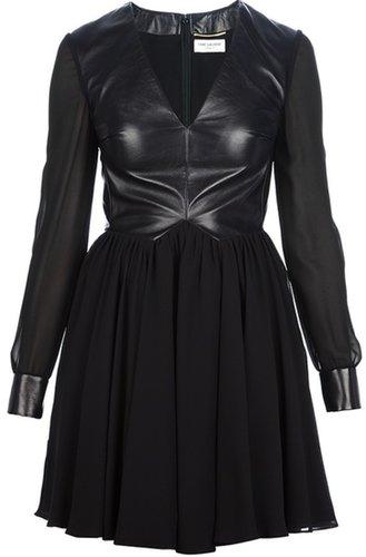 Saint Laurent leather bodice dress