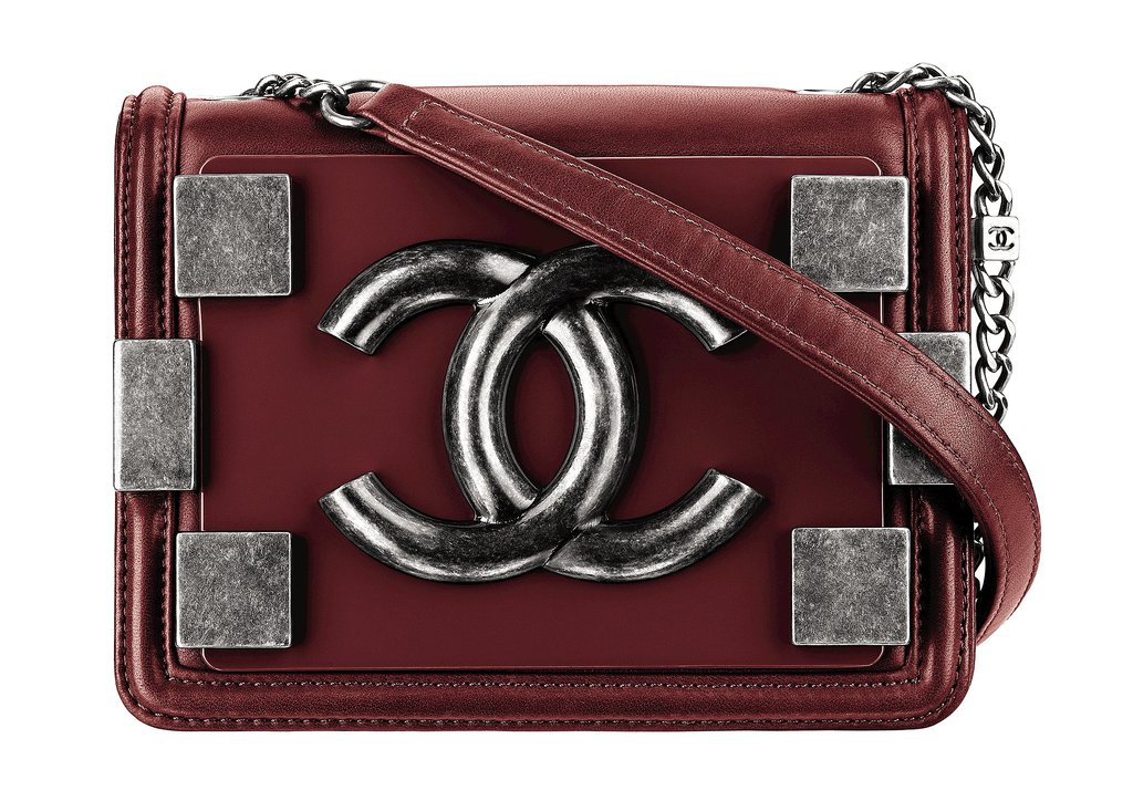 Chanel Red Leather Bag With Metal Pieces Photo courtesy of Chanel