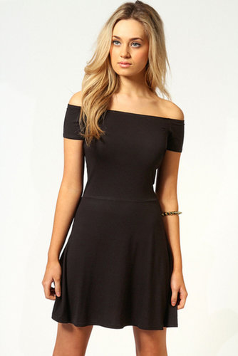 Nikki Off The Shoulder Skater Dress