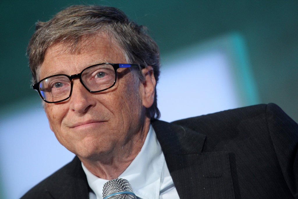 Bill Gates, who was part of a two Bills, one selfie, stopped by on Tuesday.