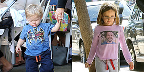 Ben Affleck's Kids Wear Their Love For Him on Their T-Shirts!