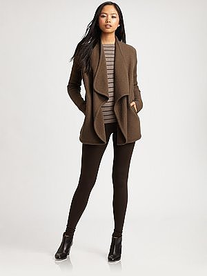 Vince Wool Ruffle Coat