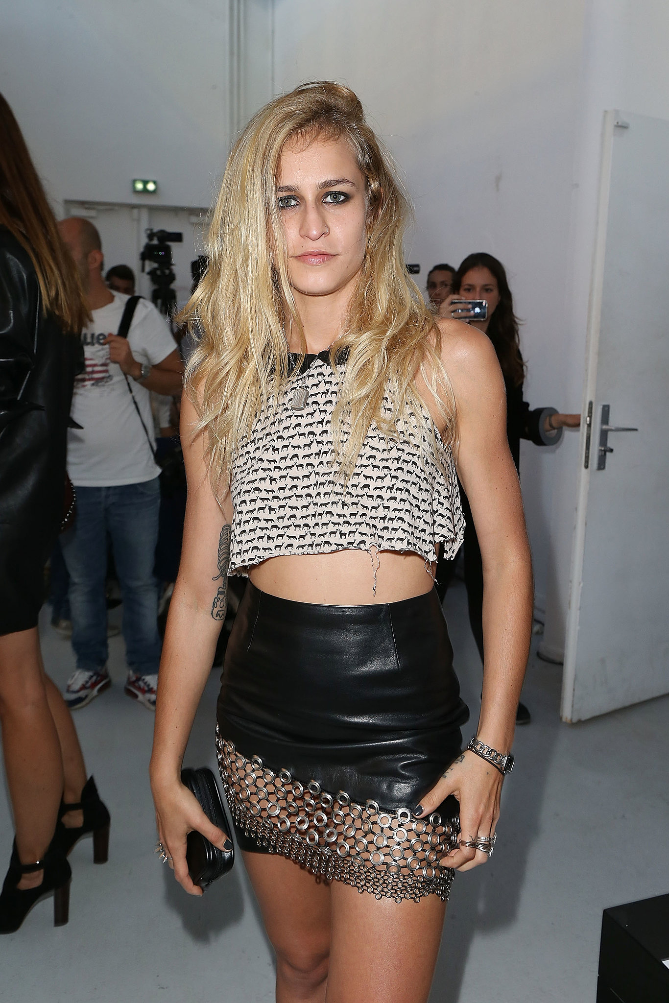 Alice Dellal at Anthony Vaccarello Spring 2014.