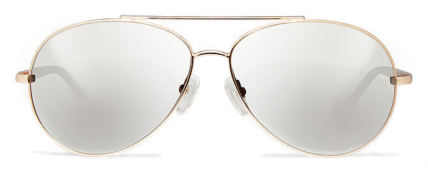 Mirrored sunglasses are the standout trend from the Spring 2014 shows' street style looks. Not only are these Cynthia Rowley No. 10 aviators ($99) screaming out Tommy Ton's name, but they can be made with your prescription for only $30 more.  — MLG