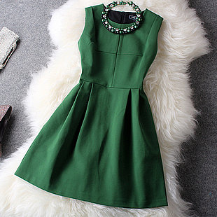 Image of Nice Green Shiny Dress