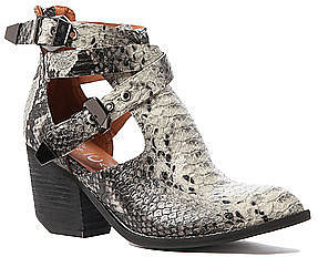 Jeffrey Campbell The Everwell Bootie in Black and Grey Snake