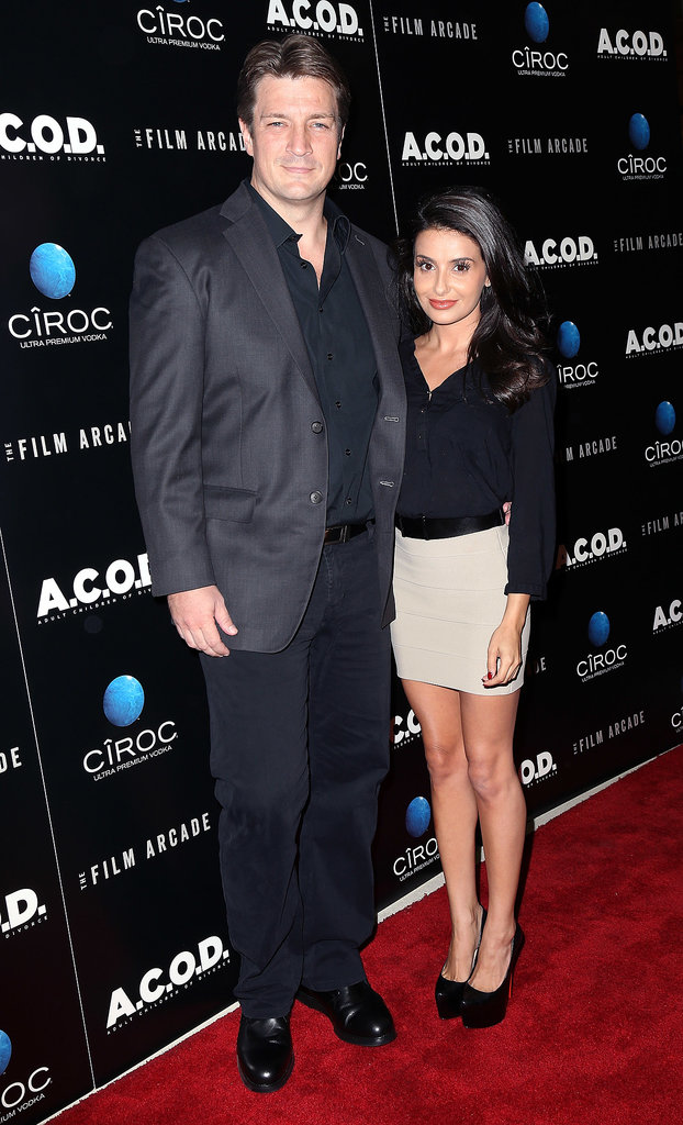 Nathan Fillion and Mikaela Hoover joined up on the carpet.