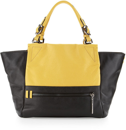 Oryany Delta Colorblock Tote, Custard/White