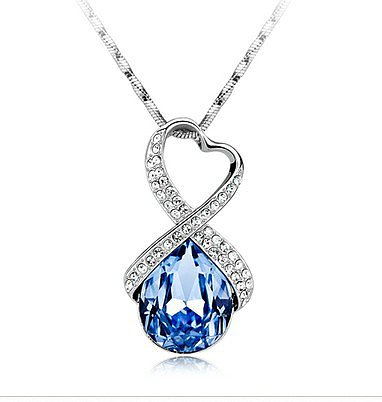 Image of Sparking Rhinstone Love Necklace
