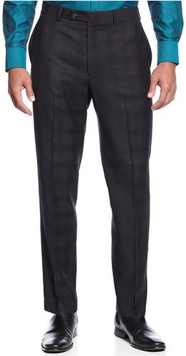 Calvin Klein Dress Pants, Grey Plaid Pants Slim Fit