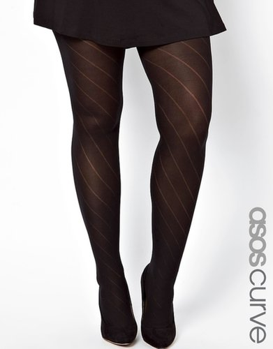 ASOS CURVE Diagonal Opaque Tights
