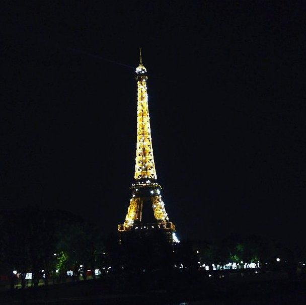 Our first order of business upon arrival in the City of Light? To see the Eiffel Tower at night when it literally sparkles with the help of 20,000 flashing bulbs. Source: Instagram user popsugarfashion