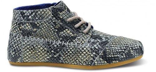 Toms+ grey serpentine women's tribal boots