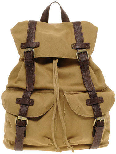 ASOS Canvas Backpack With Contrast Straps