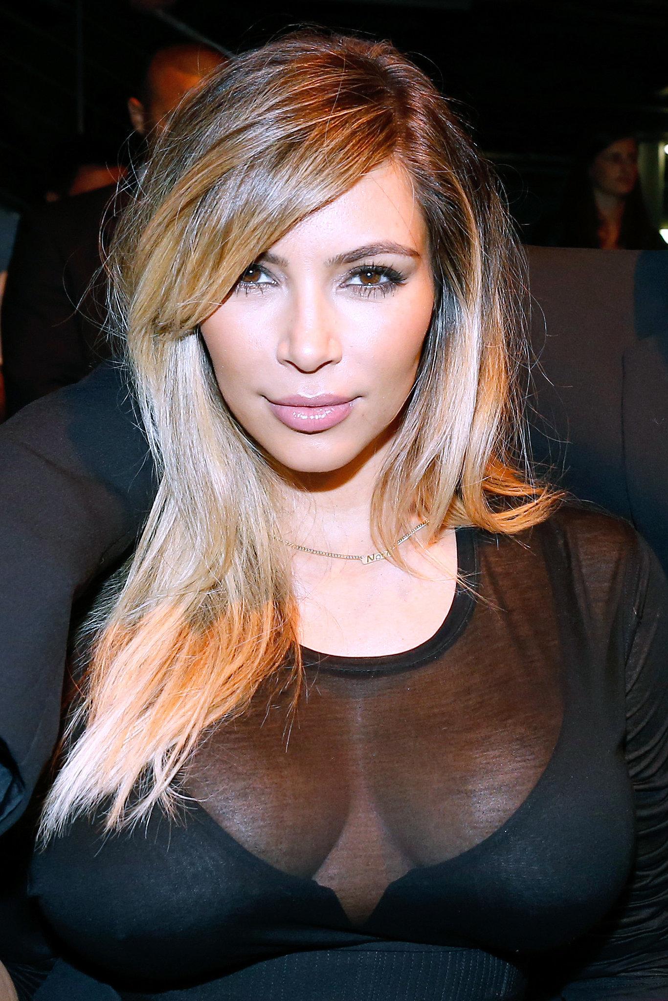 Kim Kardashian at Givenchy Spring 2014.