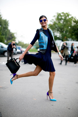 Giovanna Battaglia's look kind of makes us want to jump for joy too.