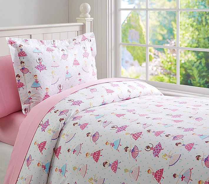 pottery barn kids tiny dancer flannel duvet cover make. Black Bedroom Furniture Sets. Home Design Ideas