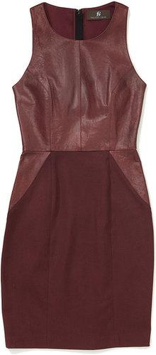 Sachin + Babi Carolina Leather/Ponte Combo Dress