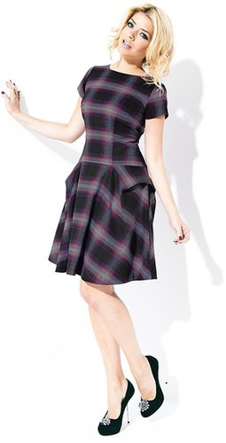 Holly Willoughby Tartan Frill Hem Dress