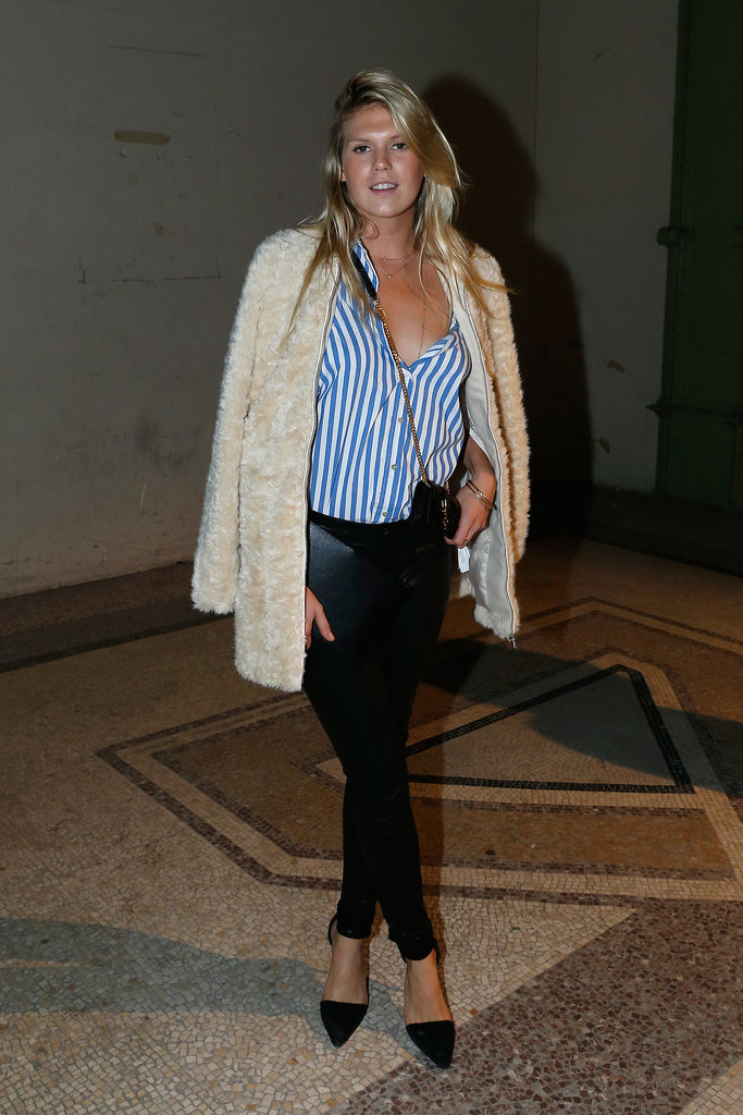 Alexandra Richards stepped out for Saint Laurent in layers.
