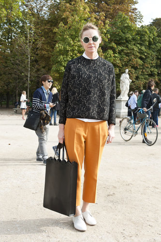 Menswear with a bold accessory twist.
