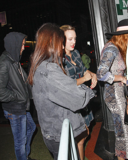 Robert Pattinson and Dylan Penn attended a concert.